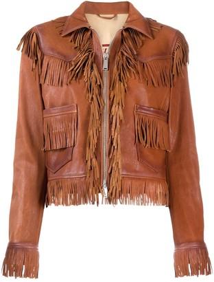 DSQUARED2 Fringed Leather Jacket