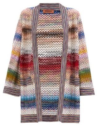 Missoni Polka-dot Zigzag-jacquard Knitted Cardigan - Multi