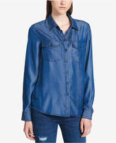 DKNY Button-Front Denim Shirt
