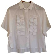 DELPOZO White Cotton Top for Women
