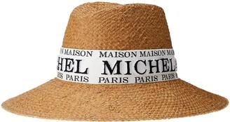 Maison Michel Kate logo-embroidered fedora