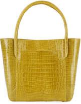 Nancy Gonzalez Crocodile Square Shopper Tote Bag, Green F6