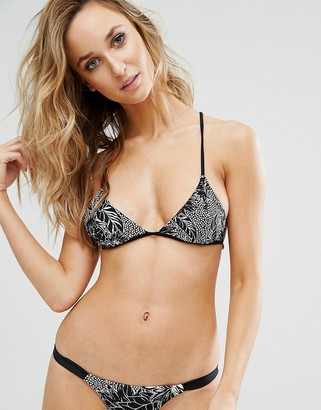 Somedays Lovin Floral Triangle Bikini Top