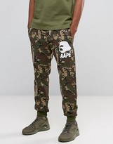 Aape By A Bathing Ape Joggers With All Over Camo Print