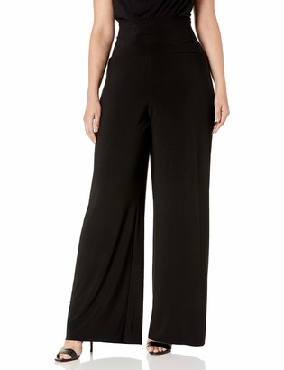 Anne Klein Women's Size Plus Pullon Knit Wide Leg Pant
