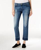MICHAEL Michael Kors Released-Hem Vintage Blue Wash Straight-Leg Jeans
