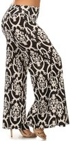 Allora Betsy Red Couture Women's Plus Size High Waist Palazzo Pants
