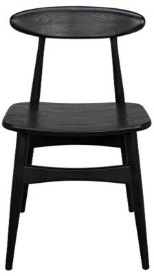 Noir Surf Solid Wood Dining Chair