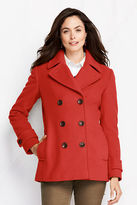 Lands' End Women's Tall Luxe Wool Pea Coat