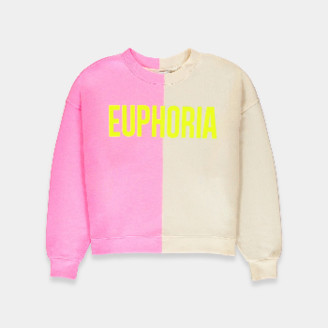 Essentiel Neon Pink and Beige Bicolor Euphoria Sweatshirt - 0