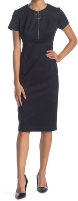 Calvin Klein O-Ring Zip Sheath Dress