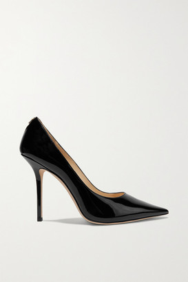 Jimmy Choo Love 100 Patent-leather Pumps - Black
