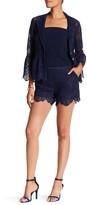 Trina Turk Compay Silk Contrast Lace Shorts