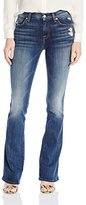 7 For All Mankind Women's a Pocket with Contrast a and Distress in Crete Island