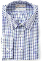 Roundtree & Yorke Gold Label Big & Tall Non-Iron Regular Full-Fit Spread-Collar Checked Dress Shirt