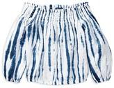 Ralph Lauren Girls' Shibori Tie-Dye Off-the-Shoulder Top - Little Kid