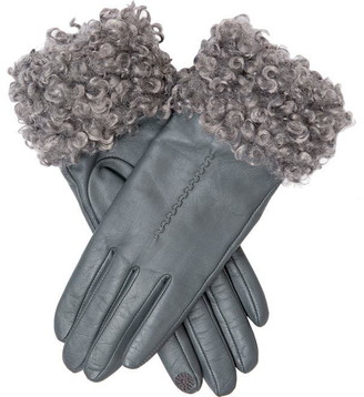 Dents Womens Cuff Detail Leather Gloves