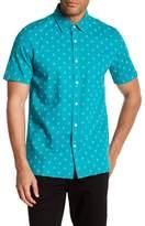 Jack Spade Diamond Quad Short Sleeve Linen Blend Shirt