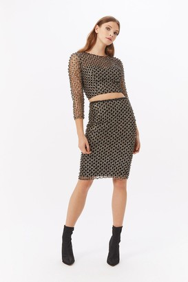 Coast Beaded Sequin Co-ord Midi Skirt