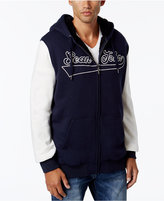 Sean John Men's Sherpa-Lined Hoodie with Contrast Sleeves, Only at Macy's