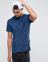 Celio Crew Neck Pocket T-shirt With All Over Print