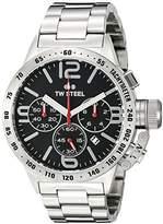 TW Steel Men's CB7 Analog Display Quartz Silver Watch