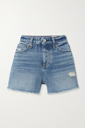Rag & Bone Dre Distressed Denim Shorts - Dark denim