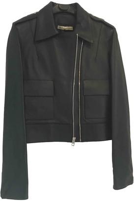 Balenciaga Navy Leather Leather jackets