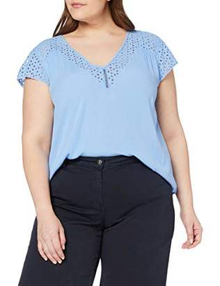 Junarose Women's Jralisa Cap Sleeve Blouse - K Cornflower Blue, (Size: 42)