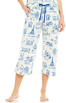 Sleep Sense French Toile-Print Capri Sleep Pants