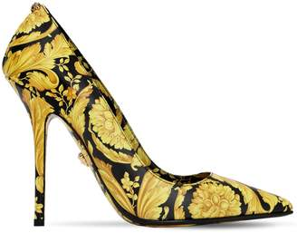 Versace 110MM BAROCCO PRINTED LEATHER PUMPS