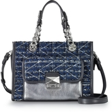 Karl Lagerfeld K/Kuilted Tweed Night Sky Mini Tote Bag