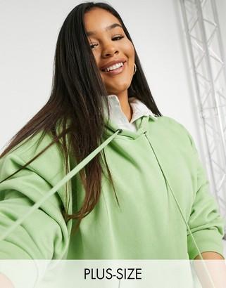 Vero Moda Curve oversized hoodie in light green