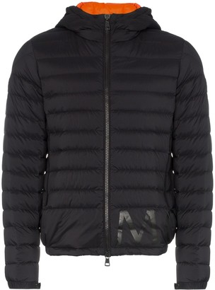 Moncler Quilted Feather Down Hooded Jacket