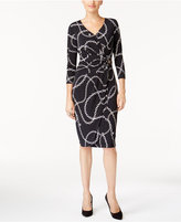 Thalia Sodi Printed Faux-Wrap Dress, Created for Macy's