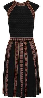 M Missoni Jacquard Knit-trimmed Crochet-knit Dress