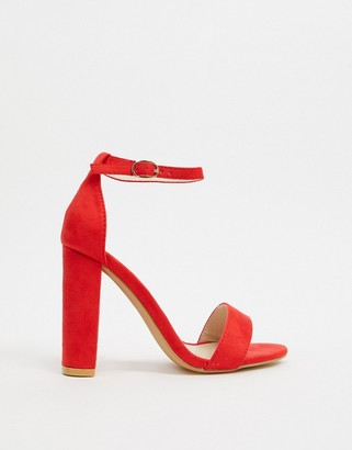 Glamorous barely there heels in red