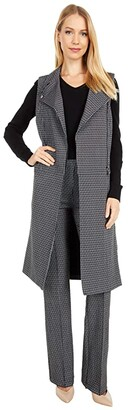 Lysse Tala Sleeveless Trench (Nordic Houndstooth) Women's Clothing