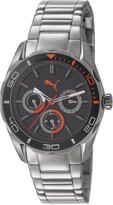 Puma Women's PU103192005 Multifunction Stainless Steel Band Black Dial Watch