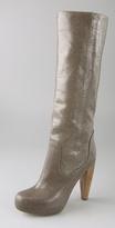 Camilla Platform Boots on Wooden Heel