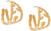 Marni leaf motif hoop earring