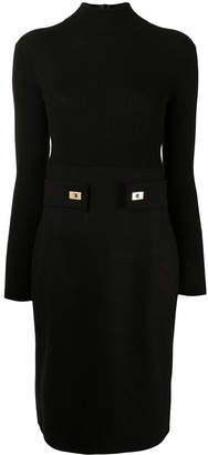 Paule Ka Knitted Wool Dress