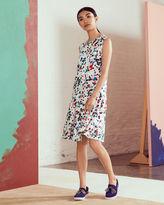 Ted Baker Paint splash print drop waist dress