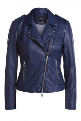 Set Fashion - Tyler Leather Jacket 67950 In Colour Maritime Blue - 40