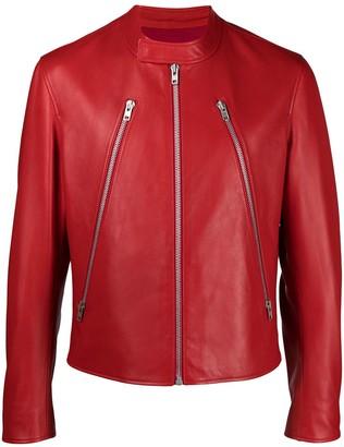 Maison Margiela Mock Neck Leather Jacket
