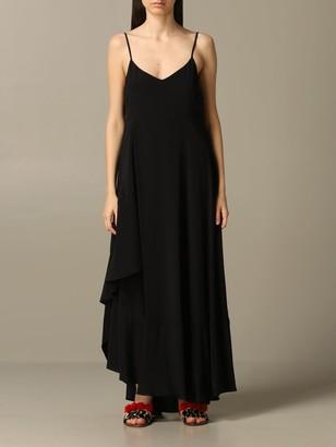 Long My Twin Dress With Asymmetrical Hem