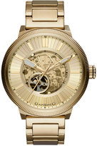 Armani Exchange A|X Men's Automatic Gold-Tone Stainless Steel Bracelet Watch 49mm AX1417