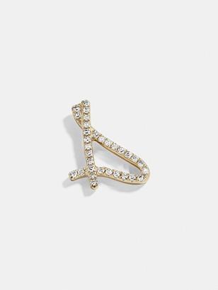 BaubleBar Diamond Graffiti Initial Single Stud Earring