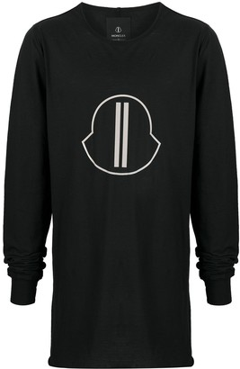 Moncler + Rick Owens Oversized Logo Patch Top