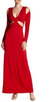 Rachel Pally V-Neck Cold Shoulder Front Cutout Long Dress